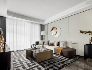 SLD梁志天设计--江居雅宅143㎡现代时尚的轻奢空间