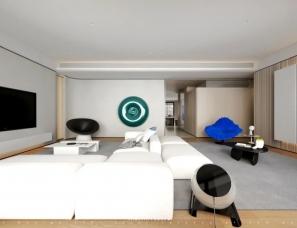至内设计--拥有双向客厅的江景大平层270㎡