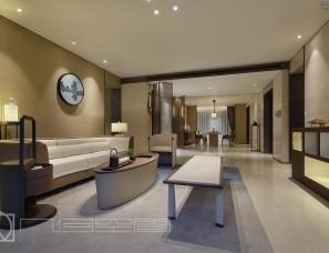 郑州几何空间设计作品——正弘瓴当代中式设计