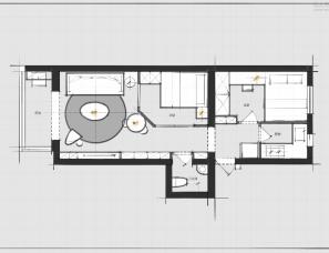 星空|平面优化手稿分享(44)一房改两房