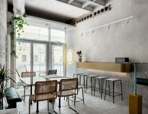 Angelina Borodkina--俄罗斯喀山一间58㎡极简主义咖啡馆