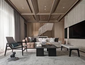 大易国际设计+华墨国际设计--清远融创春风桃源别墅190㎡