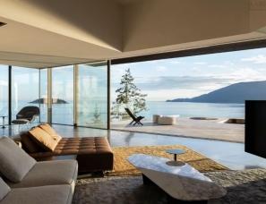 McLeod Bovell Modern--加拿大西海岸995㎡黑崖海景别墅
