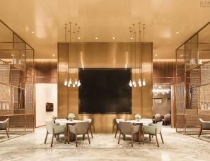于强室内设计师事务所--引入城市广场咖啡厅理念的售楼处
