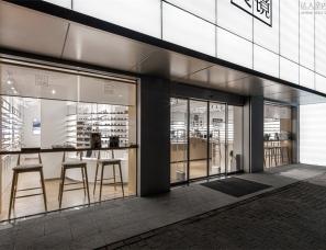 """NAN Architects--青山良镜-眼镜之都的""""光之盒"""""""