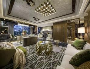 深圳盘石室内设计--杭州·长龙领航140户型样板房