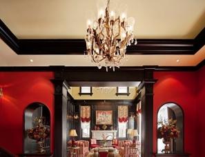 深圳颜政设计--呼和浩特外滩样板房,红与黑演绎美式风情