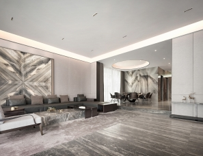 HTD环廷设计--莫兰迪色演绎现代奢华空间