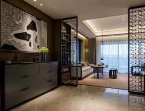 """道胜设计--广东""""雅舍""""195m²新中式住宅"""