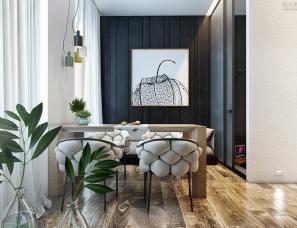 乌克兰Stanislav Kaminskyi 设计--小而质感的MINI公寓