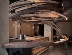 """Curvink Architects--野蛮生长!自然主义""""旋涡""""餐厅"""