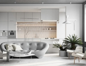 olovo-design--水泥灰+原木,打造自然现代风