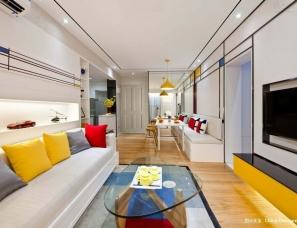 广州道胜设计--向蒙德里安致敬-保利三山西雅图样板房