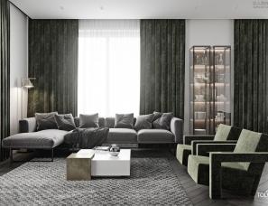 "TOL'KO interiors设计-- ""OREGANO FLAT"" in Moscow"