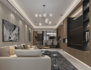 六品设计--广州 100m²混搭二居室
