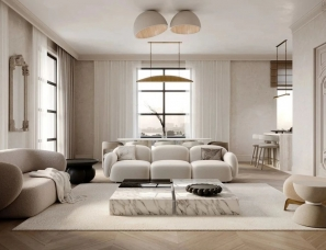 Mariia Panova--115㎡法式极简公寓