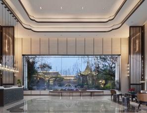昊泽空间设计--合肥建发雍龙府售楼处/会所/入户大堂