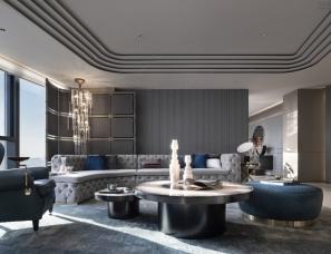 CCD郑中设计+京典艺术陈设--北京三里屯一号公寓C户型
