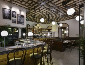 Urban Soul Project--怀旧50、60年代 ILIOS 希腊雅典拱廊下的餐厅