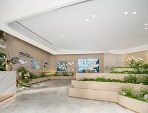 GND设计--卓越·蔚蓝铂樾府城市展厅×森林秘境
