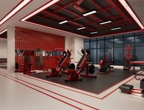 健身会所.健身房设计案例效果图