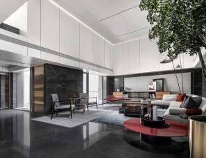 尚诺柏纳设计--珠海保利九洲天和三期屿墅.黑曜石别墅885㎡