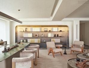 朱周空间设计--杭州嘉里中心逸庐样板间阅湖270㎡