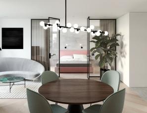 Iya Turabelidze设计--Puce apartment