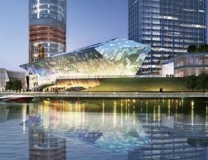 """商业空间设计:""""水晶""""音乐厅名字好听,造型设计更优美"""