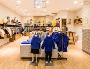 儿童服装专卖店设计案例效果图