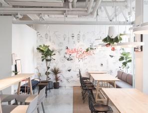 谜舍设计--Basic Coffee 都市里的阳光房