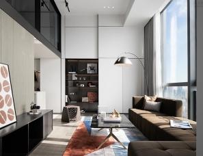 韦高成设计+三人行陈设--深圳双子湾项目LOFT公寓