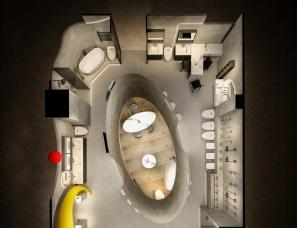 一个未被采纳的概念方案,打破传统的卫浴店铺