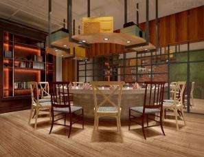 铁板烧餐厅设计案例效果图