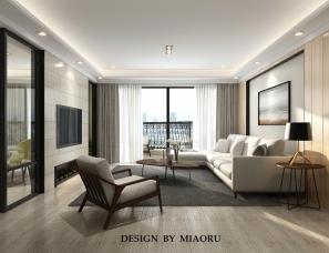 MR design studio缪茹设计-温州滨江美景园158㎡现代方案