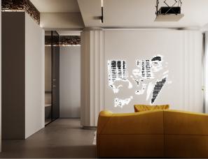 D3 Design--摩尔多瓦69m²简约现代公寓