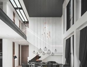 Cihan Studio--现代都市公寓180㎡,年轻人的超爱
