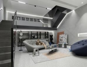 柒筑空間設計 极简大宅·黑白灰格调下的精致生活