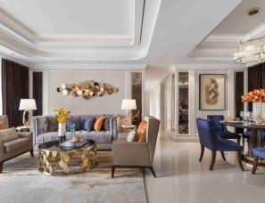 WE DESIGN中熙设计--宝生Midtown样板房E户型:橙蓝色的秀而美