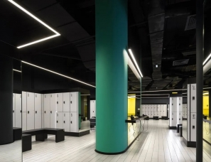 YoYo Bureau--充满未来科技感,黑色健身俱乐部