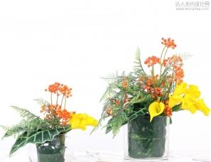 美式茶几摆件装饰客厅餐桌花艺假花