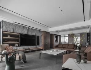 积木空间设计   200㎡简约大平层,灰木之间,质朴自然!