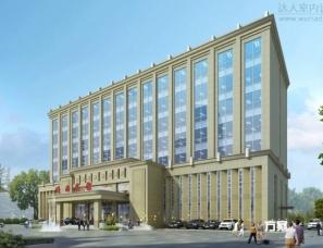 宾馆建筑外观设计案例效果图