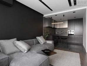 KYDE. architects--小户型也能高级感满满,65㎡ 巧用黑白灰