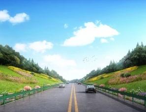 道路绿化景观设计案例效果图
