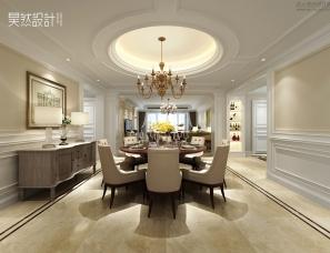 昊然设计--广州金海岸花园黄宅280㎡大平层