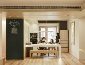 恒田设计--空间放大术,家务要减负 112.4㎡六口之家