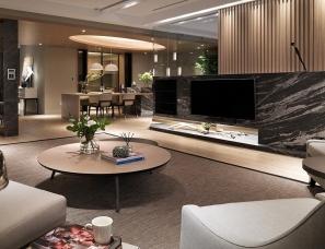 演拓空间设计--洋溢舒心与美感的四口之家