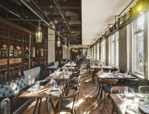 """如恩设计--上海""""工业感""""米其林三星意大利餐厅"""