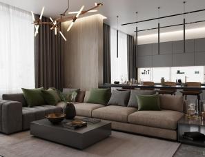 IQOSA INTERIOR设计--Modern apartment